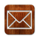 wood, envelope, Message, square, envelop, mail, Email, Letter SaddleBrown icon