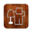 square, Digg SaddleBrown icon