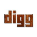 wood, Digg, Logo Black icon