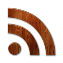 feed, subscribe, Basic, Rss, wood Black icon