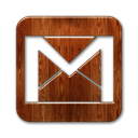 Logo, gmail, square SaddleBrown icon