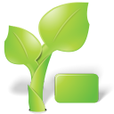 Leaf, nature, organic, plant, green YellowGreen icon