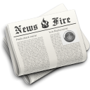 News newspaper hot fire, Newsfire Silver icon