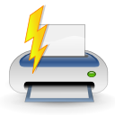 printer, quick, Filequickprint, Print, document, paper, File WhiteSmoke icon
