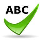 spell check OliveDrab icon
