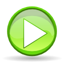 play, player, Pause GreenYellow icon
