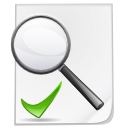File, Kfilereplace, document, Check, paper, Find, seek, search WhiteSmoke icon