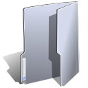 Folder, gray DarkGray icon