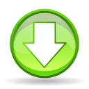 fall, Down, download, Decrease, Descend, descending GreenYellow icon