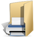 Folder, printer, Print BurlyWood icon