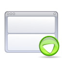 view, Bottom WhiteSmoke icon