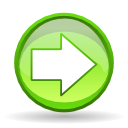 ok, Arrow, next, Forward, yes, correct, right GreenYellow icon