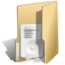Folder, music BurlyWood icon