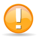 warning, Error, Alert, exclamation, wrong, message box Orange icon