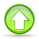 increase, Ascending, Ascend, upload, rise, Up GreenYellow icon