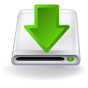 Descend, download, descending, hard disk, hard drive, Hdd, Down, fall, manager, Decrease OliveDrab icon