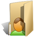 Folder, Human, people, user, profile, Account BurlyWood icon