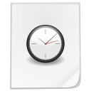 Clock, history, paper, time, Alarm, document, temporary, File, alarm clock WhiteSmoke icon