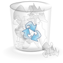 trash can, Alt, Full Silver icon
