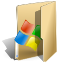 window, Folder BurlyWood icon