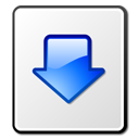paper, Descend, fall, Blue, Decrease, File, descending, document, list, download, Down, Arrow, listing, Kget WhiteSmoke icon