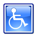 wheelchair, Access CornflowerBlue icon
