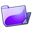 Folder, open, violet Lavender icon