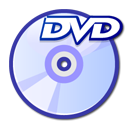 Dvd, disc, unmount Lavender icon