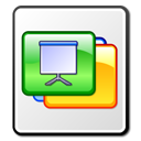 Slide, Kpresenter, Presentation, Kpr WhiteSmoke icon