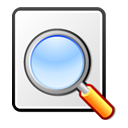 Find, document, File, Kghostview, seek, search, paper WhiteSmoke icon
