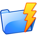 Kdisknav, Folder, power, lightning DodgerBlue icon