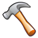 Development, pack, Develop, tool, utility, package, hammer Black icon