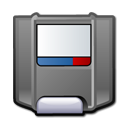 Zip, unmount Gray icon