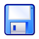 unmount, save, Floppy CornflowerBlue icon