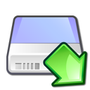 Hdd, mount, hard disk, hard drive LightBlue icon