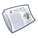 File, paper, News, knewsletter, document Black icon