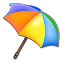 Colors, Umbrella Black icon