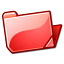 Folder, red, open Tomato icon