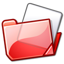 red, Folder Black icon