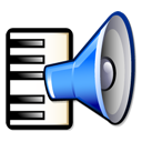 sound, Keyboard, Artsmidimanager, speaker, voice, music Black icon