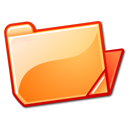 open, Orange, Folder SandyBrown icon