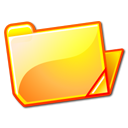yellow, Folder, open SandyBrown icon