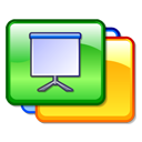 Slide, Kpresenter, Presentation Gold icon
