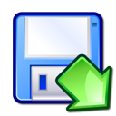 save, Floppy, mount AliceBlue icon