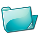 Cyan, Folder, open PowderBlue icon
