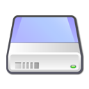 hard disk, hard drive, Hdd, unmount LightBlue icon