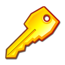 Key, password, secure Black icon