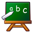teaching, pack, package, school, learn, education, Edutainment, chalkboard, teach, Abc DarkGreen icon
