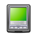Black, pda YellowGreen icon