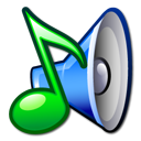 voice, music, sound, speaker, juk Black icon
